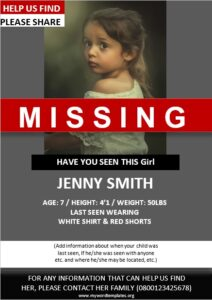 missing person poster design archives