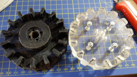 New and old active sprockets