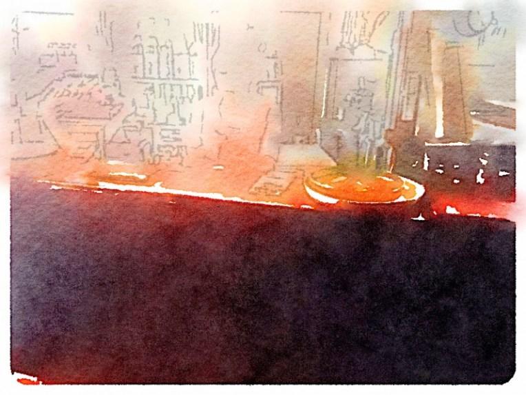 Sushi Shop at Night