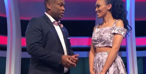 Pearl Thusi And Robert Marawa engagement rings