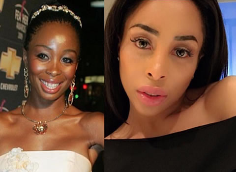 Khanyi Mbau photo after plastic surgery