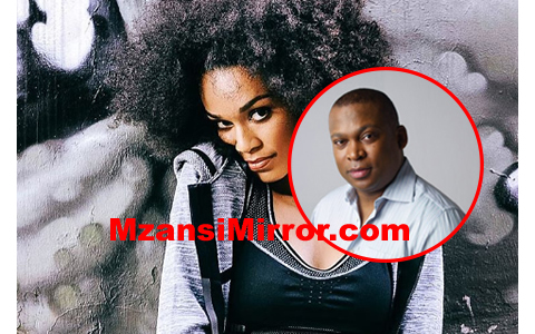 Pearl Tthusi and Robert Marawa