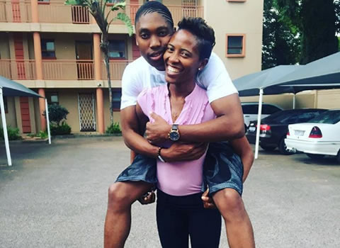 Caster Semenya and wife Violet Raseboya