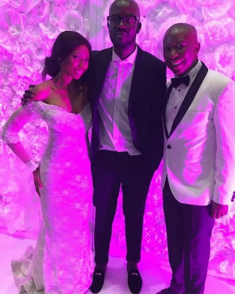 Black Coffee and Enhle Mbali Mlotshwa's wedding
