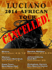 luciano cancelled africa tour
