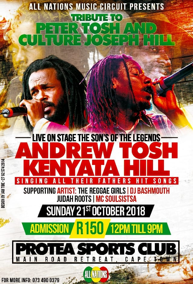 Andrew Tosh and Kenyata Hill Live in Cape Town