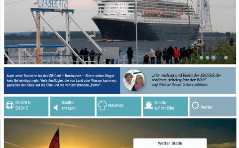 Die neue Website vom Elbblick in Stadersand.