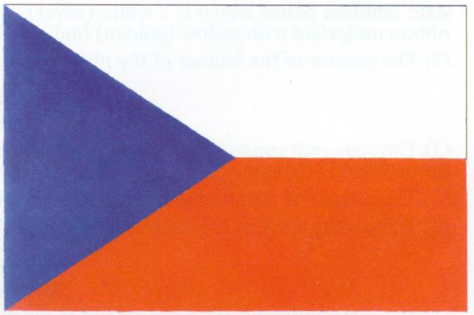 The State Symbols of the Czech Republic   Embassy of the Czech     The symbol of the Czech state  a white red and blue flag in a simple  geometric pattern  was created in 1920  shortly after the founding of the  first