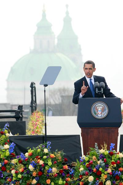 US President Barack Obama´s speech in the Czech capital