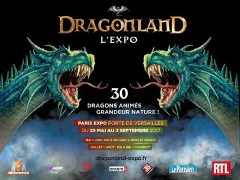 Exhibition Dragonland, on the dragons in Paris, in the head of the sales of the Fnac