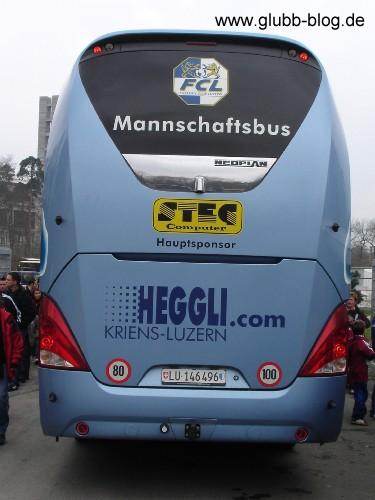 Mannschaftsbus FC Luzern