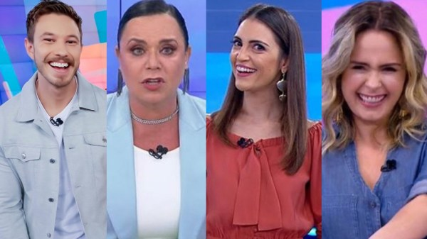 Ana Paula Renault, Chris Flores, Flor e Gabriel Cartolano apresentam o Triturando no SBT