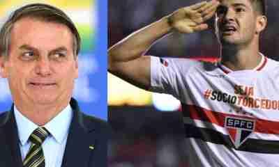 Jogador do São Paulo Pato presta apoio a Bolsonaro em meio a polêmicas e vira assunto