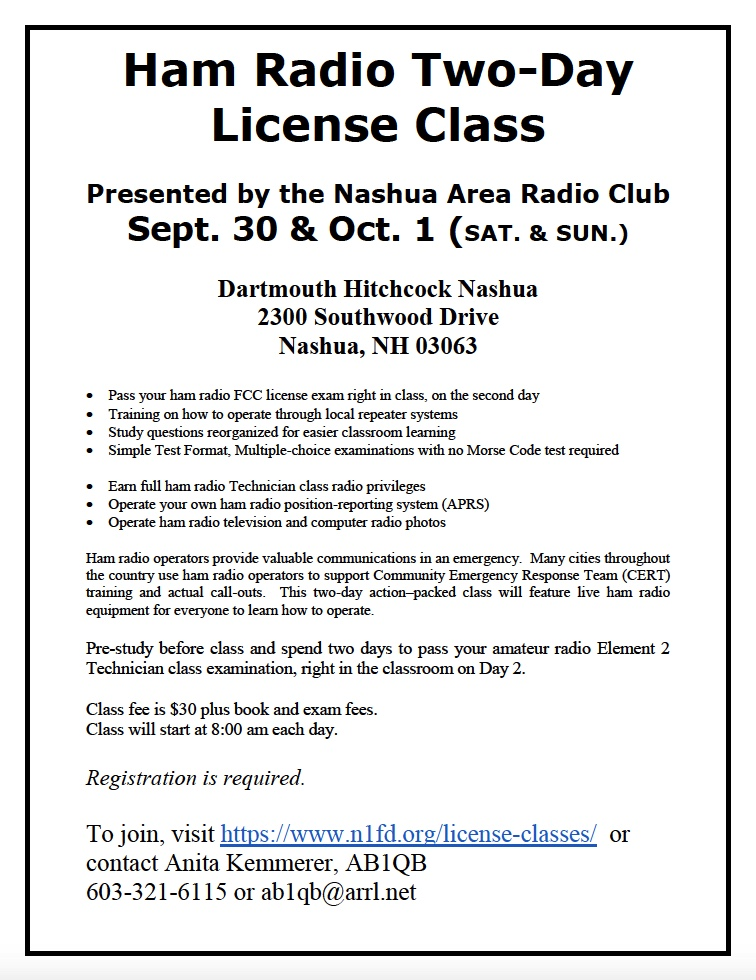Amateur Radio License Class - Fall 2017 Tech