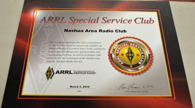 Special Service Club Certificate