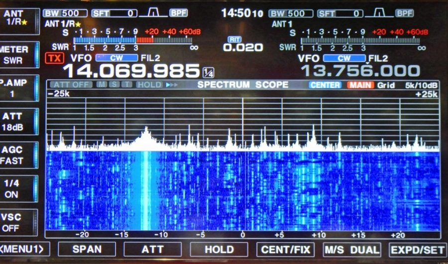 Icom 7851 Display on Large Screen TV