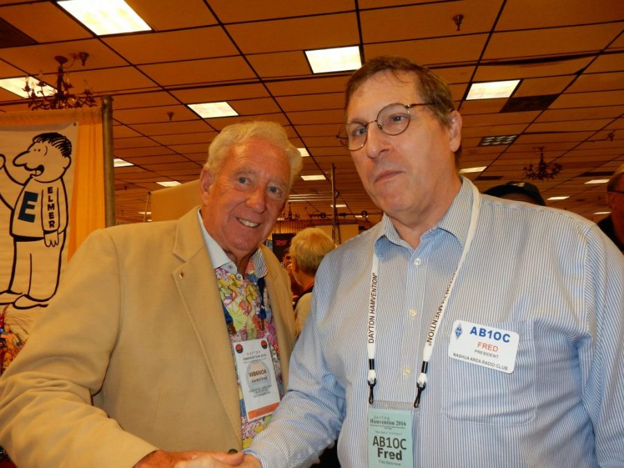 Fred, AB1OC with Gordon West, WB6NOA