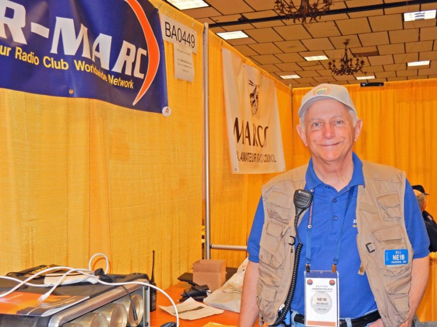 Bill Barber, NE1B at the DMR-MARC Booth
