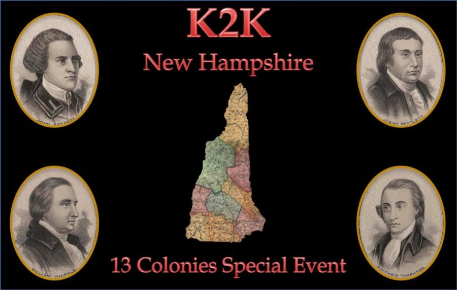 13 Colonies Special Event - K2K New Hampshire QSL