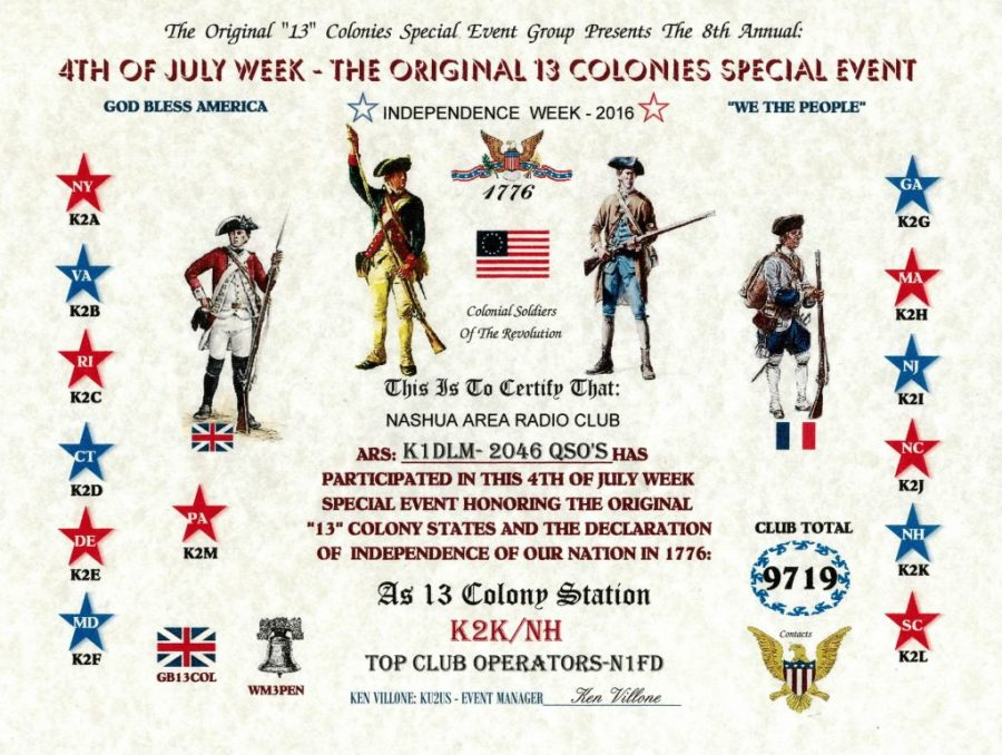 13 Colonies 2016 - K2K NH Top Club
