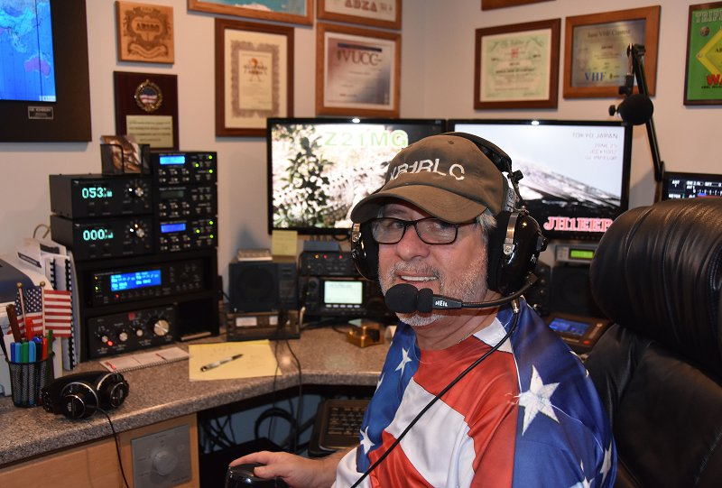 Joe KB1RLC in the CQ Worldwide DX Ham Radio Contest