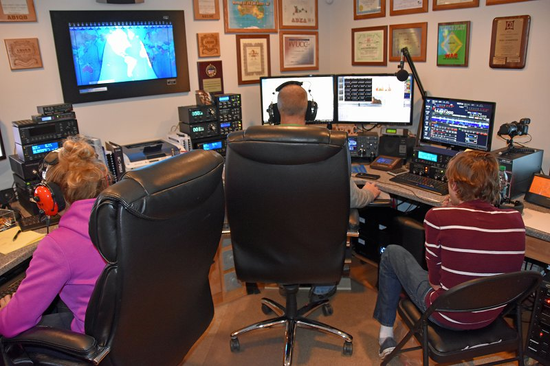 Hard at work on our DXCC - Our N1FD Multi-op Teams In Action (KC1ENX, KC1FFX, and KC1HHX)
