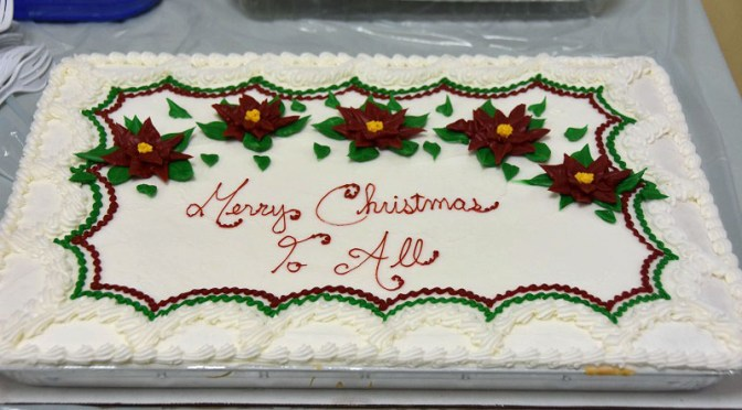 Holiday Party Christmas Cake