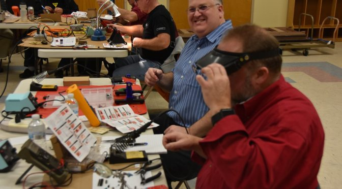 """Our Latest """"Tech Night"""" – A DSO138 Oscilloscope Kit Build"""