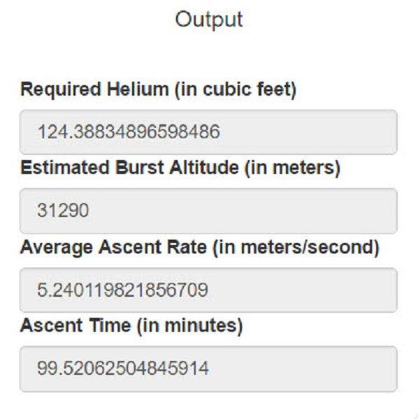 STEM Learning - Balloon Performance Calculator