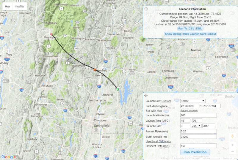 High Altitude Balloon Flight Path Prediction