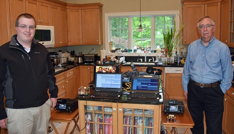 IT Test - Pierce, K1FOP and Hamilton, K1HMS Testing CW Stations