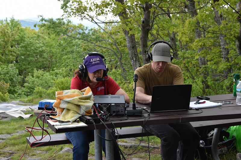 6M SOTAT Station - Anita, AB1QB and Curtis, N1CMD Operating in the June VHF Contest