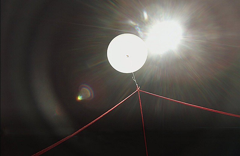 Looking Upward at the High-Altitude Balloon (Near Burst)