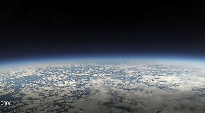 Our High Altitude Balloon at the Edge of Space (GoPro Capture)