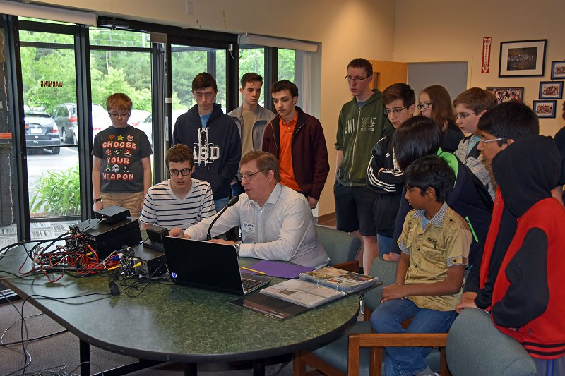 SPARK Day Group Learning About Amateur Radio