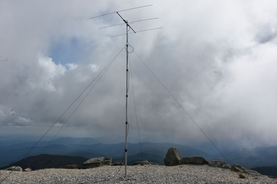 6 meter beam antenna at the Summit