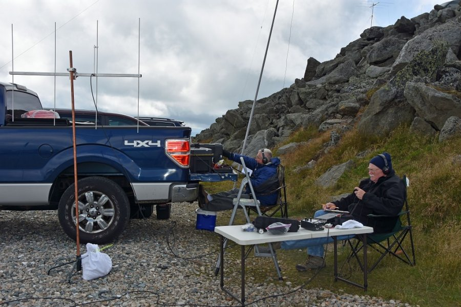 Al, KC1FOZ and Tom, KC1GGP operating from the summit