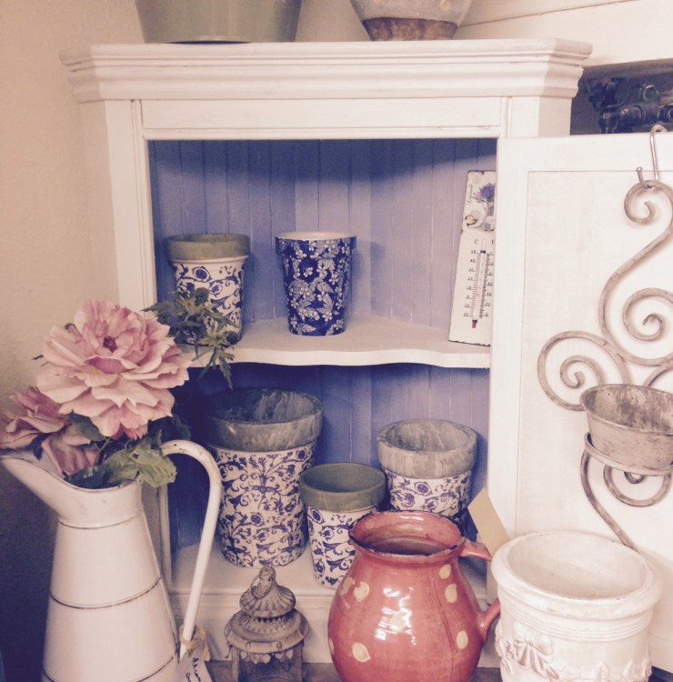 Upcycled corner unit, using Annie Sloan Chalk Paint