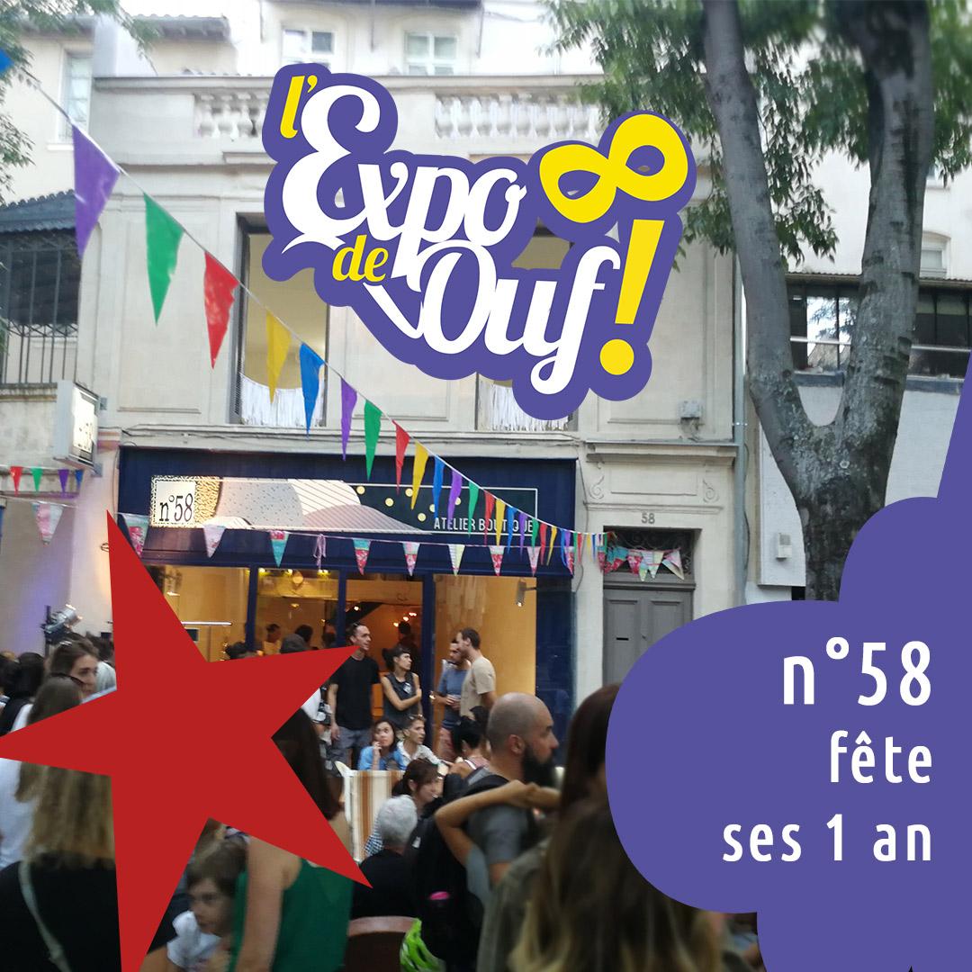 Les 1 an de la boutique - Expo de ouf - Première bougie