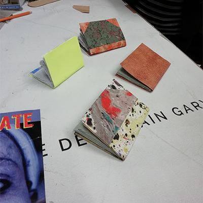 Ateliers autour du papier et de la reliure