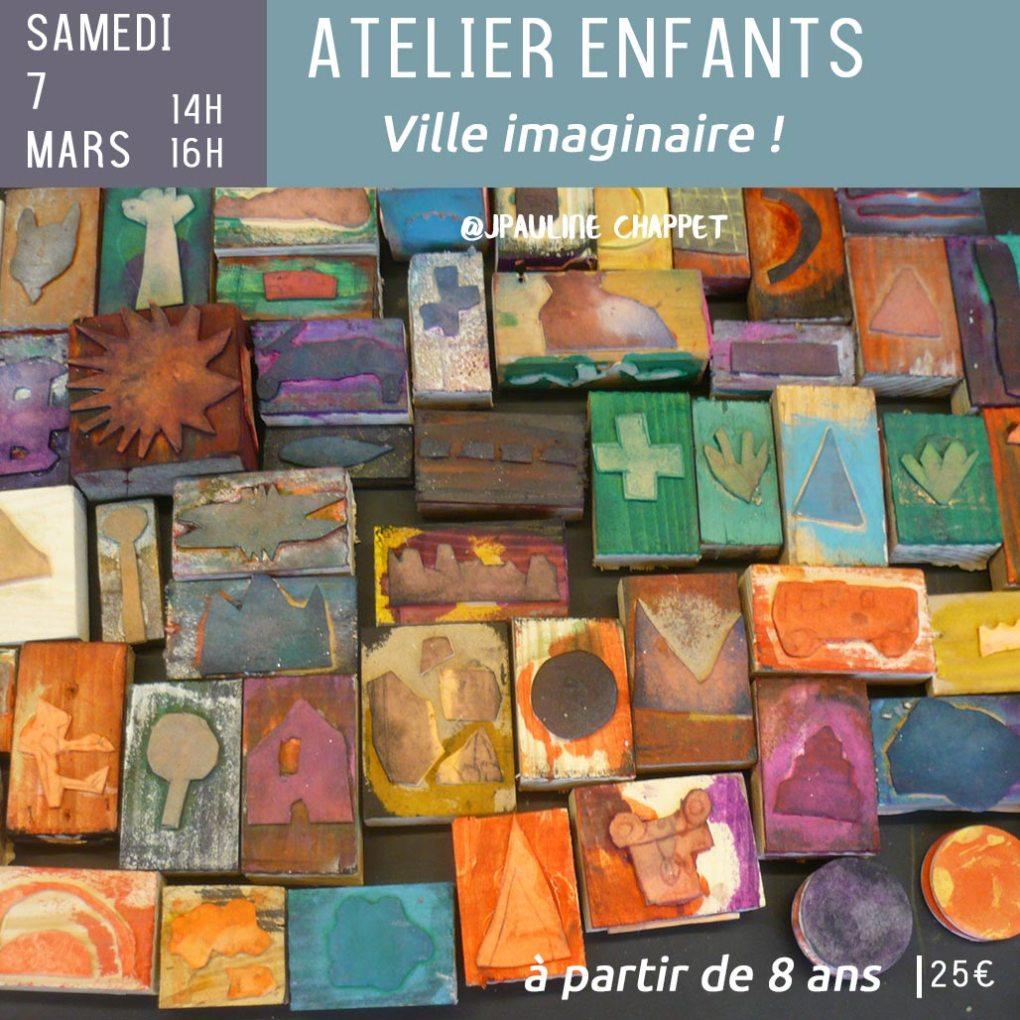 Atelier entants - ville imaginaire - samedi 7 mars 14h-16h