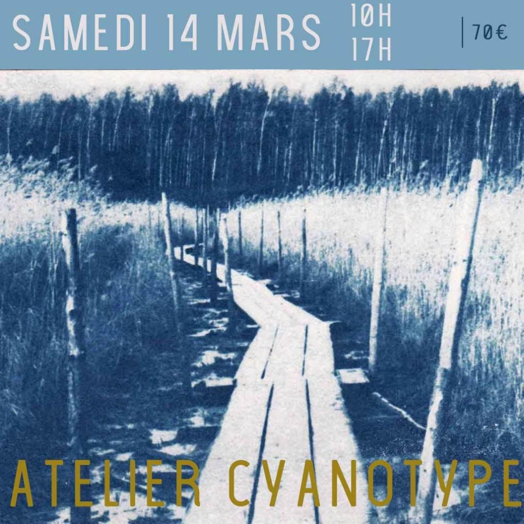 Atelier cyanotype samedi 14 mars 10h-17h