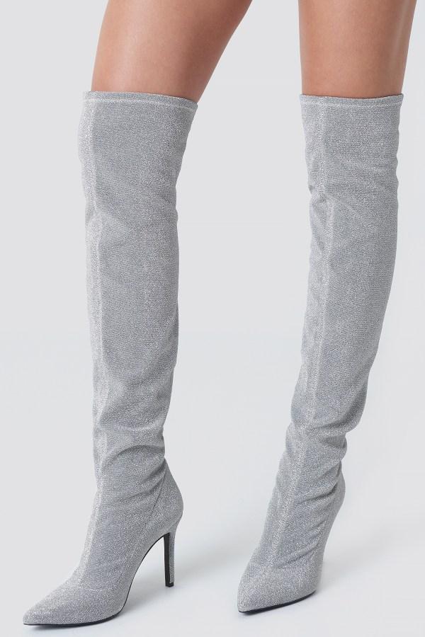 Lurex Overknee Boots NA-KD.COM