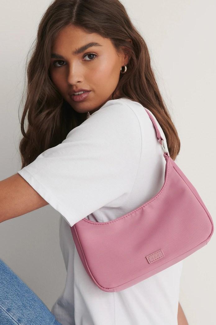 Dusty Pink Sporty Shoulder Bag