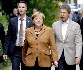 Angela Merkel mit ihrem Mann Joachim Sauer