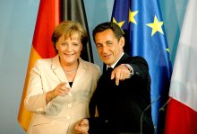 Angela Merkel mit Frankreichs Präsident Nicolas Sarkozy