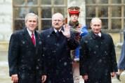 George W. Bush, Ivan Gasparovic, Wladimir Putin
