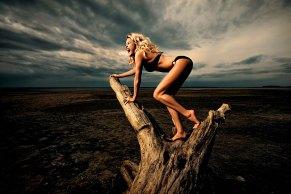 Sexy Blondinen wachsen auf Bäumen