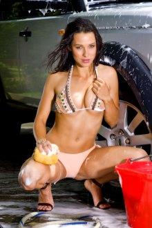 Sexy Car Wash Girl