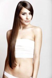 Sexy Girl mit langen Haaren